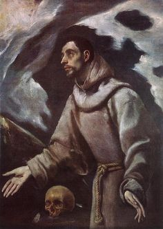 El GRECO, The Ecstasy of St Francis, c. 1580, Oil on canvas, 102 x 75 cm, Bishop's Palace, Siedlce