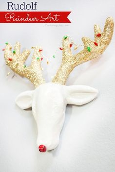 Rudolf Reindeer Art by Capturing Joy for Tatertots and Jello #HAPPYHolidays #DIY