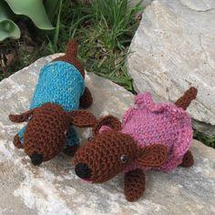 Dachshunds Crochet pattern