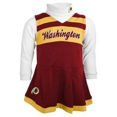 Washington Redskins Toddler Cheer Jumper - Burgundy Infant Girls 8db63131c