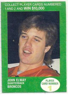 John Elway Broncos 1990 British Petroleum Gas 1990 British Petroleum Gas John Elway Broncos Addoway Football Hall of Famer Super Bowl MVP Two Super Bowl Wins John Elway, British Petroleum Collectible Bp Gas, Super Bowl Wins, British Football, John Elway, Denver Broncos Football, Player Card, National Football League, Nfl, Baseball Cards