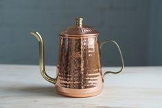 Cute copper coffee pot