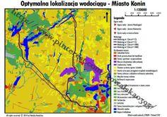 Optymalna lokalizacja wodociągu w mieście Konin