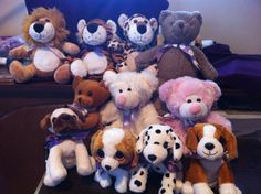 Filling Plush Pets with #lavender. Our Calming Cuddles :) #Pups #Bears #soothing #calming