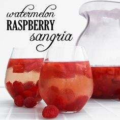 Watermelon Raspberry Sangria - pipandebby.com Neil's Watermelon Sangria