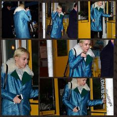 """""""News photos of Miley leaving 'The Butchers Daughter' restaurant in New York today!  #mc #mileycyrus"""""""