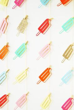 perfect for summertime parties! popsicle garland