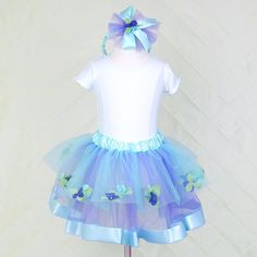 Blue Petal Tutu Skirt $30, coordinates perfectly with our Blue Bow Fascinator Headband
