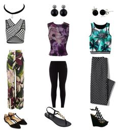 """""""Prints on Prints"""" by iceydcc on Polyvore featuring Versace, Erika Cavallini Semi-Couture, Lands' End, New Look, IPANEMA, Accessorize and Bling Jewelry"""