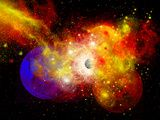 A Dying Star Turns Nova as it Blows Itself Apart Photographic Print by  Stocktrek Images