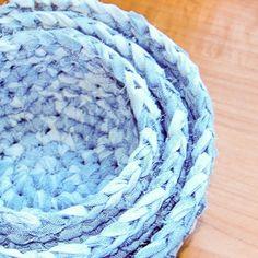 Fabric Nesting Baskets Crochet Pattern