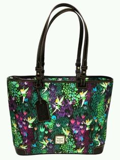 Along with other commemorative items, Tinker Bell Dooney and Bourke bags will be available. 2016 marks the fifth anniversary of the race and the fifth year of these beautiful bags. Dooney And Bourke Disney, Disney Dooney, Dooney Bourke, Disney Handbags, Disney Purse, Disney Inspired Fashion, Disney Fashion, Shopper Tote, Tote Bag