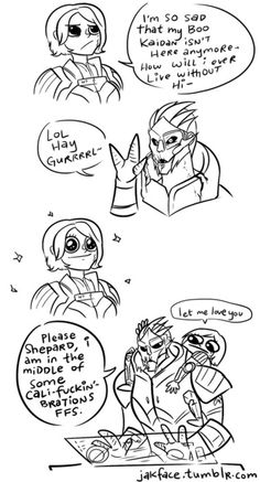 Mass Effect - Garrus/FemShep ((I was interested since ME 1, so my thought process didn't really go like this. Still funny, though.))