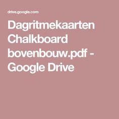 Dagritmekaarten Chalkboard bovenbouw.pdf - Google Drive