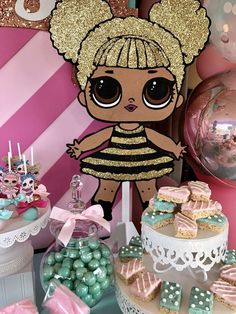 Bizzie Bee Creations 's Birthday / LOL Surprise Doll - Presley's LOL Surprise Doll Party at Catch My Party Birthday Goals, 6th Birthday Parties, 7th Birthday, Birthday Party Decorations, Surprise Birthday, Ideas Decoracion Cumpleaños, Doll Party, Cool Birthday Cakes, Lol Dolls