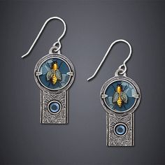 """""""Honey Bee Earrings"""" by Dawn Estrin, available at Artful Home."""