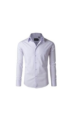 16.99$ - Goldenland Men s Long Sleeve Non-Iron Solid Collar Regular Fit Dress Shirt 44-170 white from Goldenland- Comfortable and soft fabric