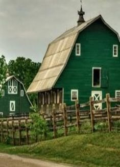 Green Barns ~ One of these days I will have a great farm!
