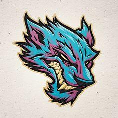 Wolf Stickers Coming Soon! Team Logo Design, Logo Desing, Mascot Design, Web Design, Logo Esport, Beast Logo, Rhino Logo, Esports Logo, Game Logo