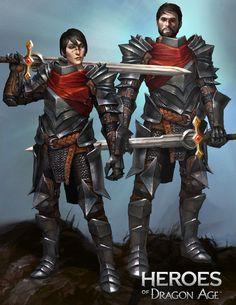 Battlemaster Marian and Garrett Hawke