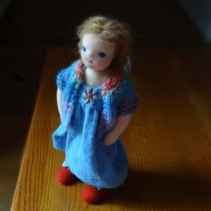 Your place to buy and sell all things handmade Mohair Yarn, Light Brown Hair, Dollhouse Dolls, Wool Sweaters, Her Hair, Blue Eyes, Arms, Super Cute