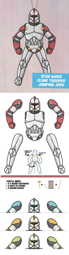Create your own Star Wars Clone Trooper paper puppet!