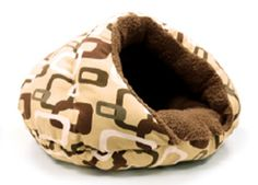 Dog Snuggle Beds Brown Patterns Burger Style Pet Beds