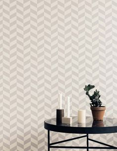 I was looking forward to the new Ferm Living Fall / Winter 2014 collection. Ferm Living focuses its colle. Ferm Living Wallpaper, Grey Wallpaper, Geometric Wallpaper, Wallpaper Paste, Modern Wallpaper Designs, Designer Wallpaper, Scandinavian Nursery Furniture, Black Marble Coffee Table, Design Simples