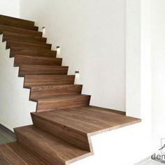 Afbeeldingsresultaat voor z trap Stairs In Living Room, House Stairs, Stair Art, Stair Railing, Modern Staircase, Staircase Design, Stair Steps, Wood Stairs, Interior Stairs