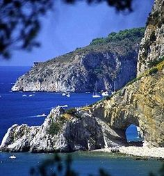 Cape Palinuro is linked to stories and legends, Campania
