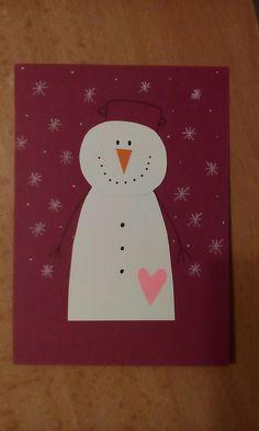 Vianočná pohľadnica snehuliak