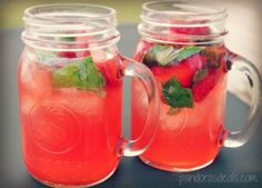Strawberry, Lime & Basil Summer Punch - See Mom Click
