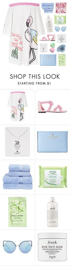 """aleeza's 2.5k set challenge / day 3"" by emmas-fashion-diary ❤ liked on Polyvore featuring Mira Mikati, Maison Ernest, Dogeared, Kate Spade, Christy, Simple, H&M, philosophy, Matthew Williamson and Fresh"