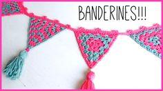 Guirnalda de Banderines (con triángulos GRANNY) a crochet | Ahuyama Crochet
