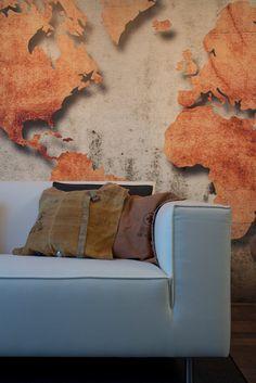 Woonkamer | Living ✭ Ontwerp | Design Marijke Schipper Wood Art, Love Seat, Sweet Home, Wall Decor, House Design, Throw Pillows, Interior Design, Architecture, Wallpaper