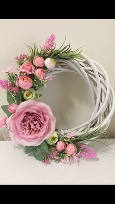 Shop for handmade, vintage, custom, and unique gifts for everyone Grapevine and pink florals Spring Front Door Wreaths, Diy Spring Wreath, Mesh Wreaths, Wreath Crafts, Diy Wreath, Easter Wreaths, Christmas Wreaths, Floral Hoops, Deco Floral