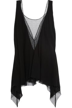 Isabeli Fontana lace-trimmed silk top by Faith Connexion