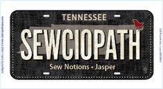 2016 Row by Row plate...SEWCIOPATH This is a pre-order item at this time.