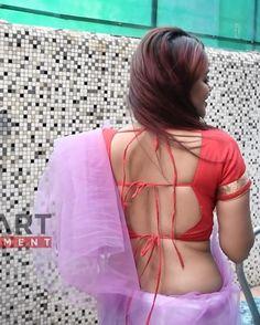 Bridal Bun, Backless, Saree, Crop Tops, Hot, Collection, Women, Fashion, Bride Bun