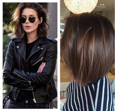 20 Best Must-Try Brunette Bob Haircuts - Love this Hair Brunette Bob Haircut, Brown Bob Haircut, Balayage Bob Brunette, Brunette Hairstyles, Medium Hair Styles, Short Hair Styles, Hair Today, Ombre Hair, Hair Dos