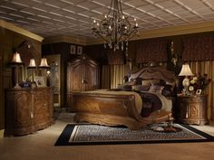 Michael Amini Cortina Luxury Bedroom Furniture Set by AICO