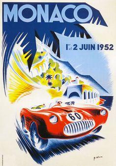 AV40 Vintage 1952 Monaco Grand Prix Motor Racing Poster Print A1/A2/A3   eBay
