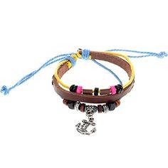 Yantu 1pc Wood Multicolor Beads Adjustable Drawstring Wirstband Leather Anchor Bracelet YANTU http://www.amazon.com/dp/B00N76G5RG/ref=cm_sw_r_pi_dp_.4Wpvb11VRFYK