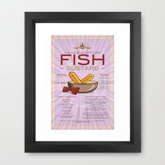 Fish Custard Framed Art Print by Pygmy Creative