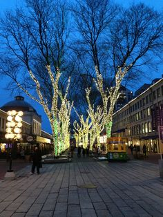 Faneuil Hall Marketplace in Boston, MA  Usually many street performances. Trees lit up at night, fun to walk around!
