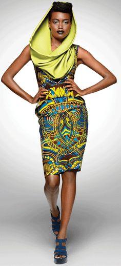 Beautiful hooded African dress