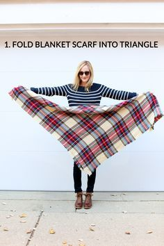 How to Tie a Blanket Scarf: 10 Ways