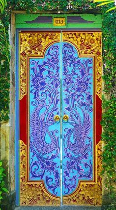 Bali, Indonesia Door Entryway, Entrance Doors, Doorway, Knobs And Knockers, Door Knobs, Door Handles, Cool Doors, Unique Doors, When One Door Closes