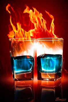 Feuer-Cocktails - Animation Telefon №1258255