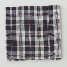 Shop Fog Linen U2014 Napkin: Navy Red Check
